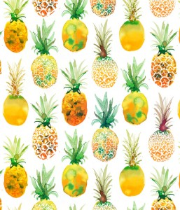 Pineapple pattern for textile design sold to WALMART, USA