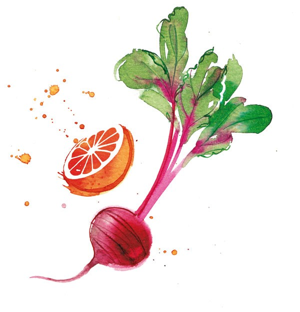 orange & beetroot