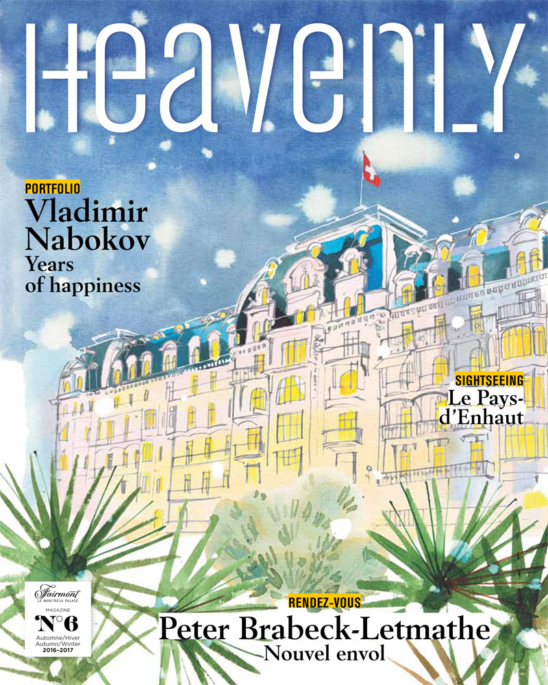 Fairmont Palace Hotel, 2016, illustrated cover for their magazine, Fall-Winter issue