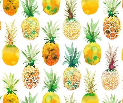 WALMART, Pineapple pattern for textile design