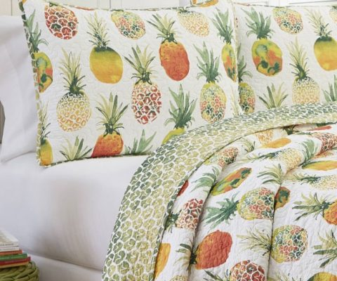 Pineapple print sold to WALMART USA and used for a bedding collection