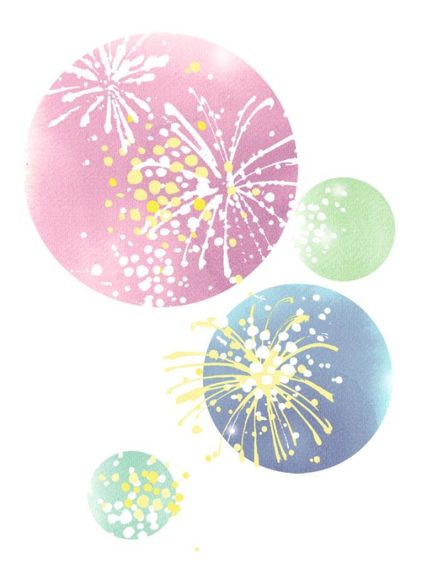 Fireworks! New year's eve Greetings 2019