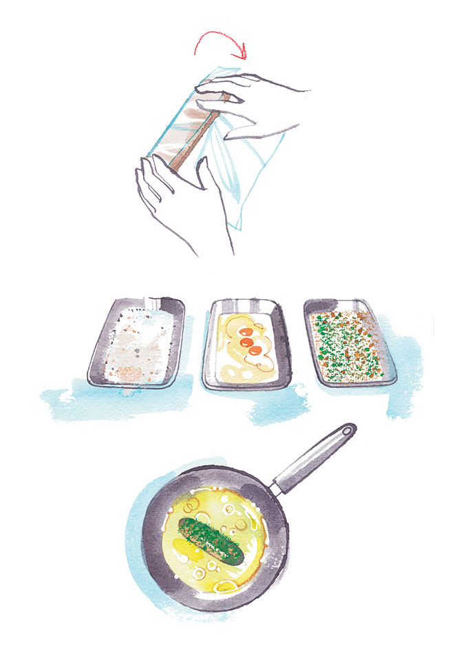 Madame Figaro CUISINE, 2018, illustrated recipe step by step, recipes by Anne Sophie Pic
