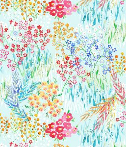 Flowers pattern, textile design for Home furnishing