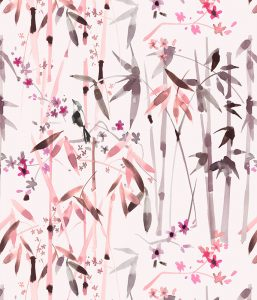 Bamboo pattern, textile design for Home furnishing