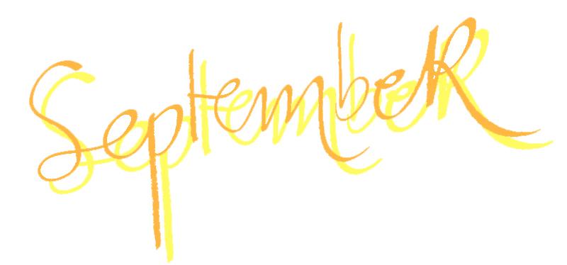 September, handwriting