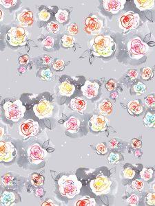 Roses pattern, textile design for lingerie