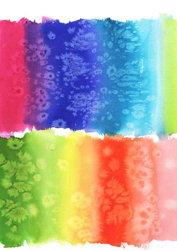 Rainbow, watercolor