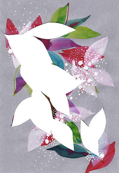 Perfume scent, collage illustration